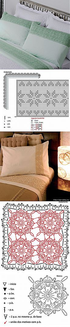 Decoration pillow lace crochet. The ideas and schemes.