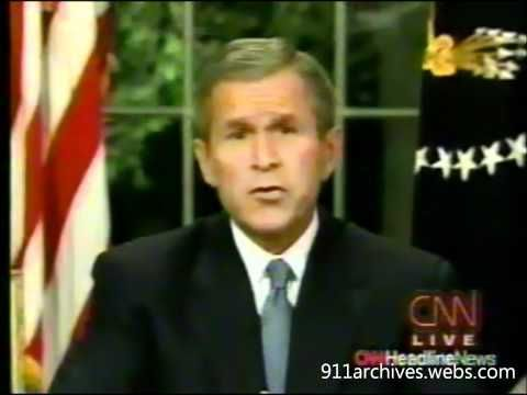 CNN. President  Bush said our country is strong. Is it still strong? George W. Bush The Night of 9-11-01 -  YouTube