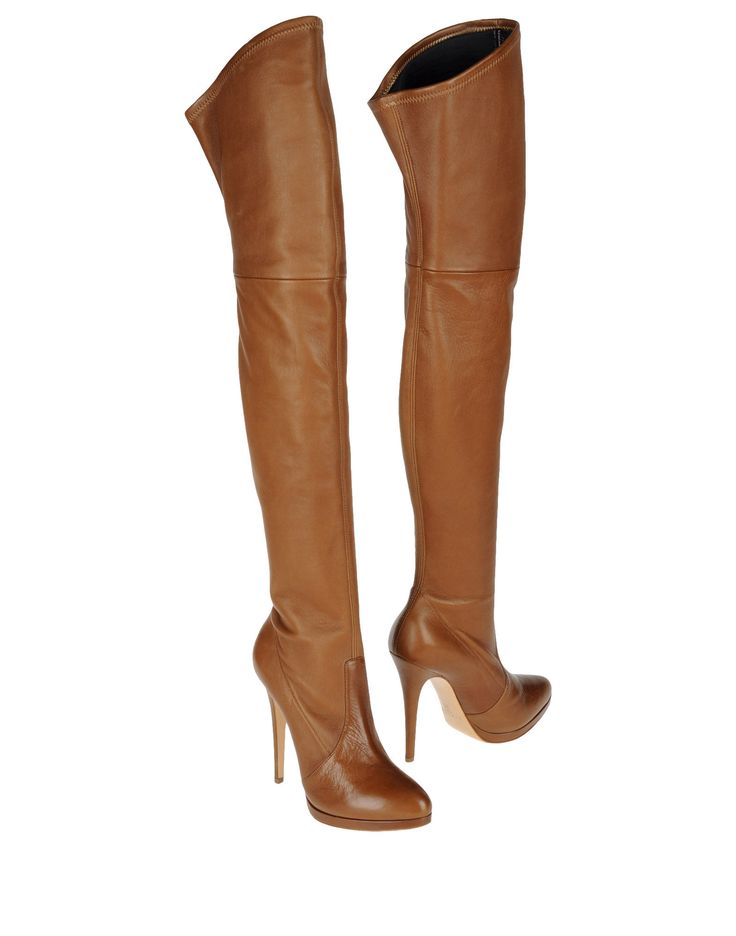 Casadei High Heeled Boots in Brown (black)   Lyst
