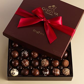 I was taught about Godiva by my mother growing up & have bought the truffles for my son every year for Christmas since he was old enough to understand. Every day we would each have one bite it in half & give the second half to the other. He bought me a box this year. It would have taken a month to eat sharing it but our dog, Bailey got them while we were out for Christmas dinner & I found my previously sealed box on our bed torn apart empty! Love you, Godiva!