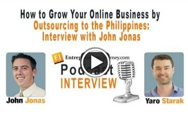 John Jonas is one of the gurus on outsourcing. He's built a great business and has been having great success outsourcing to the Philippines.   If you haven't explored the possibility of outsourcing, this is the interview you need to listen to.