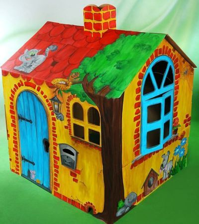 how to make a house with cardboard for kids