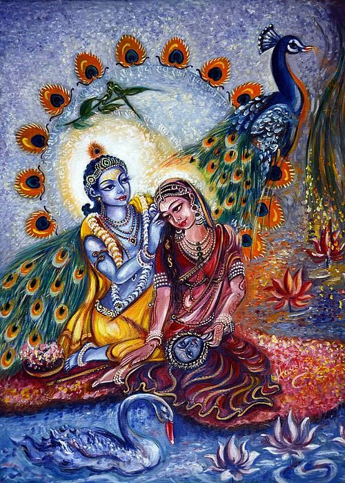 Shringar LEELA! If you are interested in Original Painting, View my Other Website...  https://www.etsy.com/listing/195202585/shringar-leela-original-radha-krishna  My Contact info for Custom Order ...  ..... harshlata_malik@yahoo.com