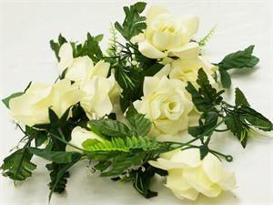 4 x Supersized Rose Garland - Cream   eFavorMart