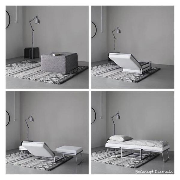 Xtra Ottoman Footstool With Sleeping Function Ottoman Footstool