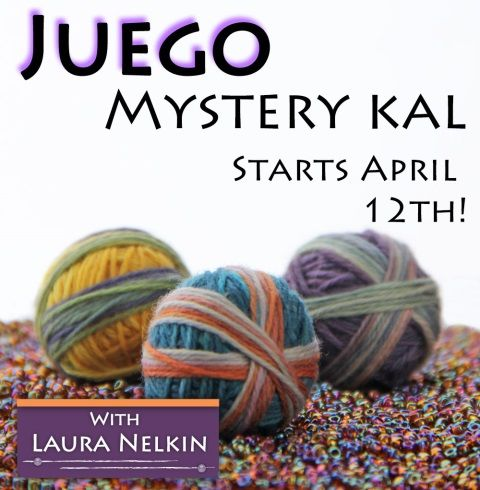 Laura Nelkin's Juego Mystery KAL! Sign up at Purl in the Pines