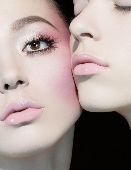 soft pink make up