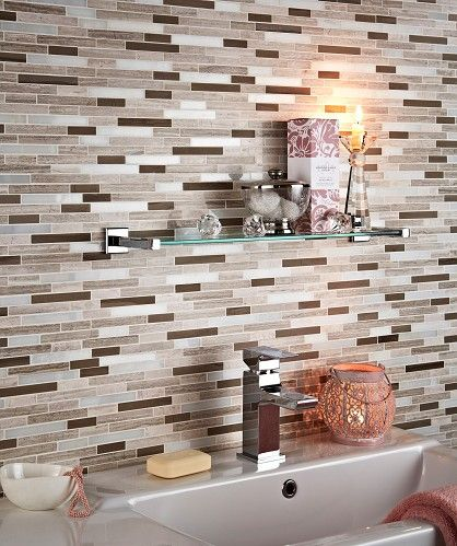 Teakwood Linear Mosaic Tile