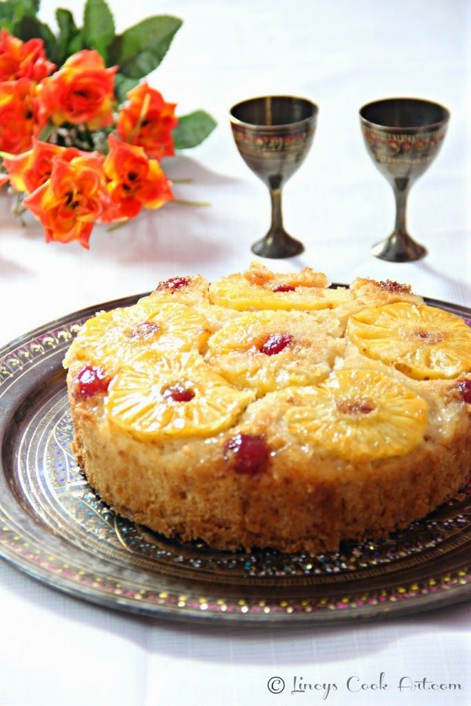 Pressure Cooker Pineapple Upside Down Cake