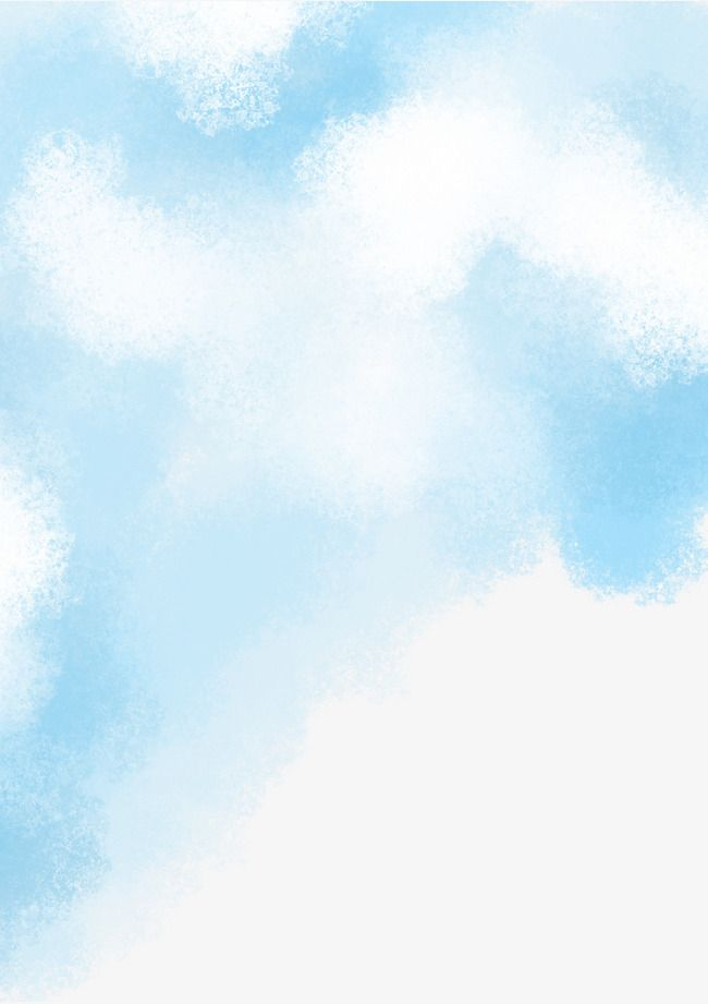 Watercolor Blue Sky And Clouds In 2020 Watercolor Sky Clouds