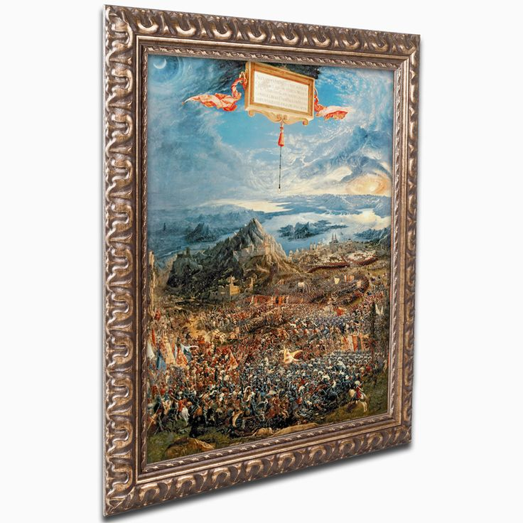 'The Battle of Issus' by Albrecht Altdorfer Ornate Framed Art