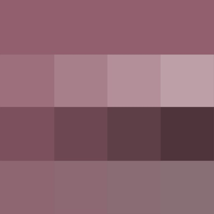 #Mauve #Taupe shades (Hue) ( pure color ) with Tints (hue + white), Shades (hue + black) and Tones (hue + grey, which desaturates the Hue)