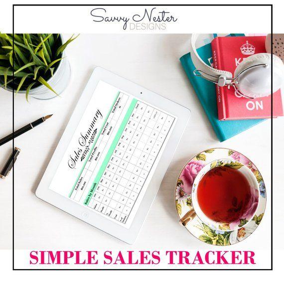 Sales Tracker, Etsy Business Organizer, Etsy Shop Organizer, Small