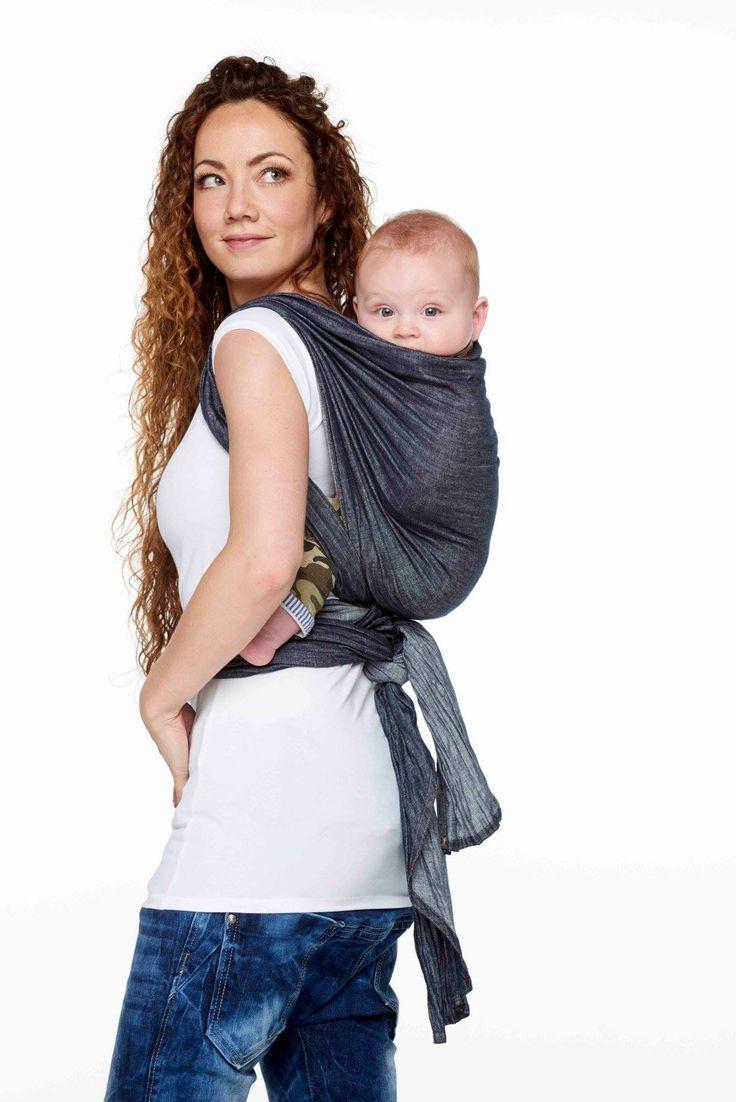 Je handen vrij met je kindje in de draagdoek! De ByKay Denim Dark Jeans is een hippe geweven draagdoek met een authentieke, stoere uitstraling!