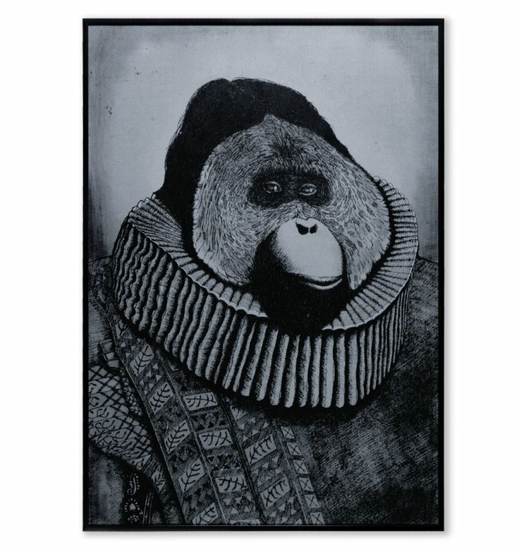 This is a hand-pulled screenprint of my original illustration of a Monkey Baron
