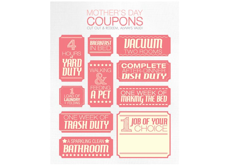 Mother S Day Coupons Holiday Mother S Day Pinterest