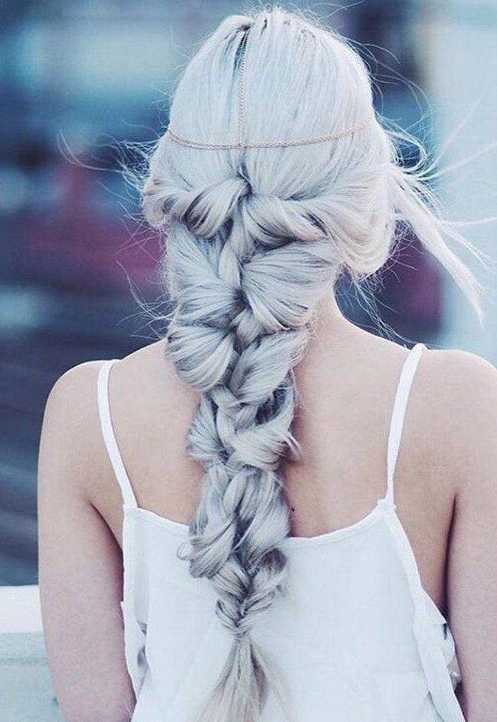 Super chic braid, boho glam, hair envy, That hair color!