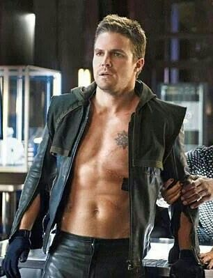 The Essence of Oliver Queen in a picture- half shirtless, half hooded up, felicity holding him, looking tortured- yup this covers it! :)