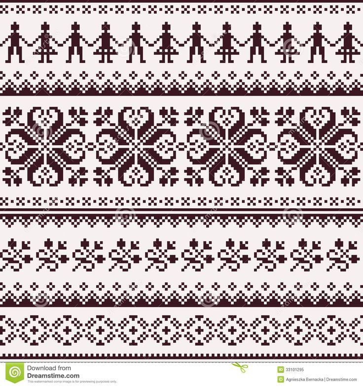 Nordic Seamless Winter Knitted Brown Pattern - Download From Over 28 Million…
