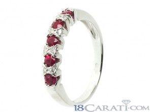 Anello rubino e diamanti 0.05ct