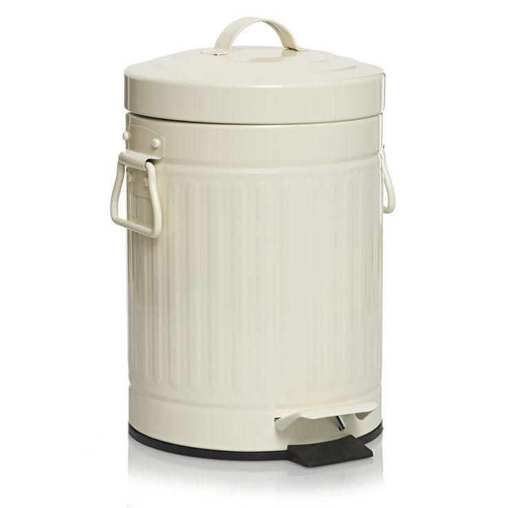 Retro Pedal Bin Kitchen Bathroom Rubbish Waste Dustbin Steel US style 3L 30L #Highlands