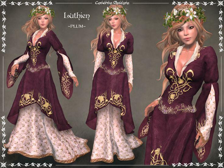 Luthien Gown PLUM by Elvina-Ewing.deviantart.com on @deviantART