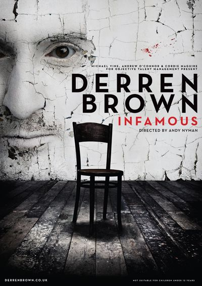 Derren Brown Returning to the Stage with Infamous - New Poster
