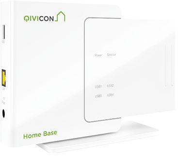 QIVICON Home Base als zentrale Steuereinheit ✔ Unterstützt die Funkstandards ZigBee + HomeMatic ✔ Viele Smart Home Geräte anderer Hersteller werden unterstützt