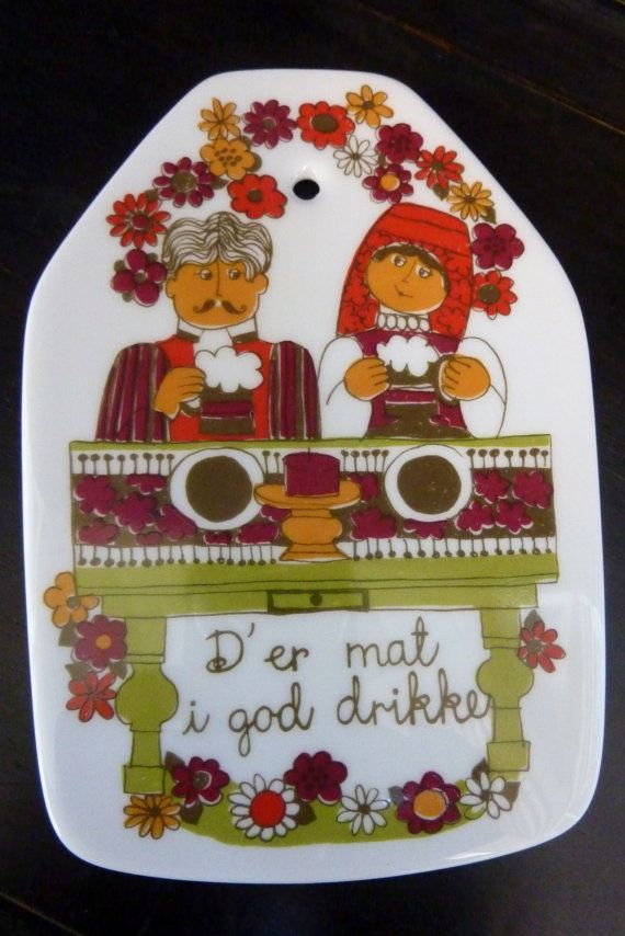 Norway Turi Design Figgjo Flint Folklore by wemixandmatchvintage, $12.50