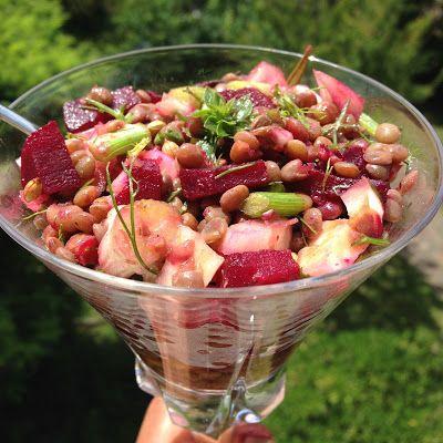 La mia cucina persiana: Insalata di Lenticchie, Barbabietole e semi di Coriandolo - Salad Adas