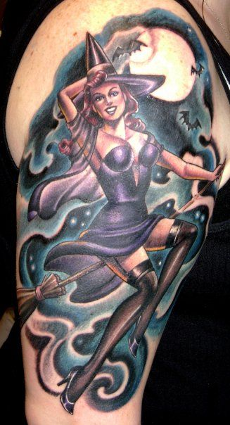 Wicked witch pin up