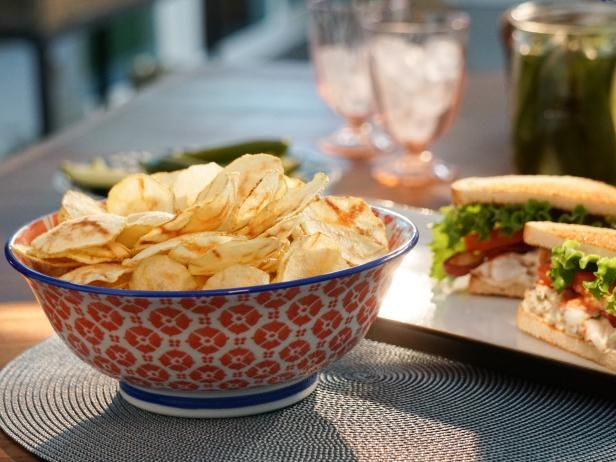 Get Microwave Potato Chips Recipe from Food Network - Valerie Bertinelli
