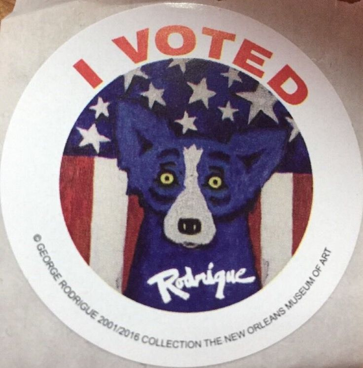 ONE I Voted - George Rodrique Blue Dog Stickers 2016 USA Presidential Election  | eBay