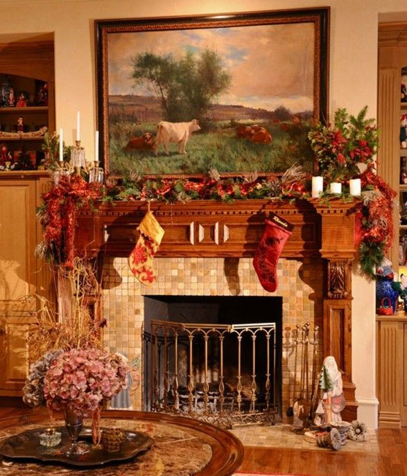 Christmas Design, Pictures, Remodel, Decor And Ideas   Page 75. Christmas  Fireplace Mantels, Fireplace Decorations ...