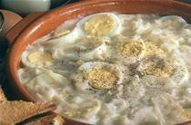 Œufs à la tripe au vinaigre de cidre