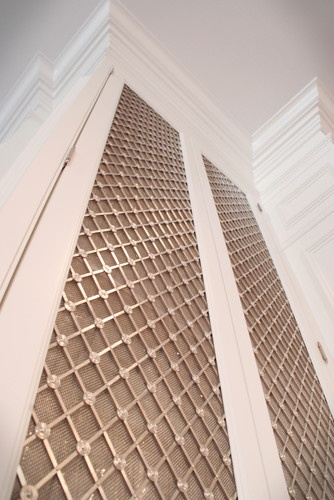I Love This Lattice Cabinet Front The Grille Is From Www