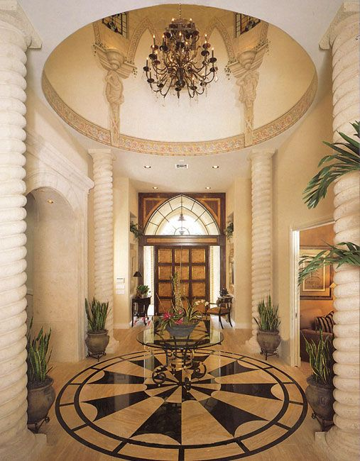 Foyer Luxury Quote : This two and a half story foyer is brilliant with stained