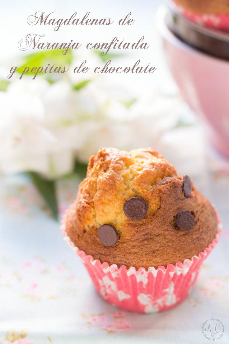 Sueños de amor y canela: Magdalenas de naranja confitada y pepitas de chocolate. (Xavier Barriga)