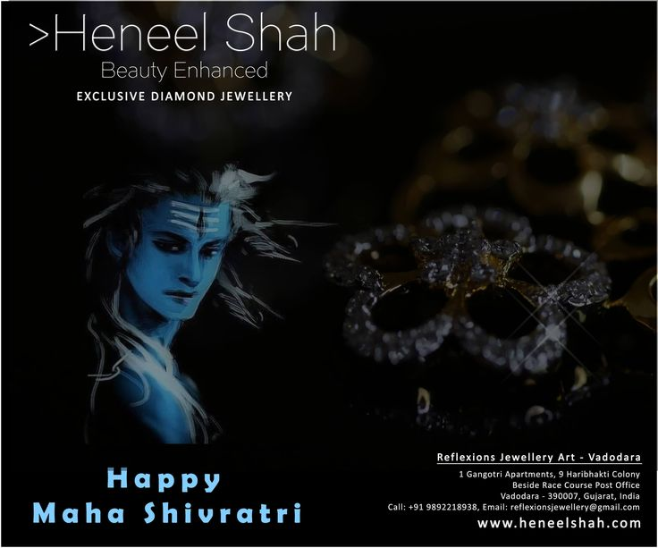Celebrate Maha Shivratri with awesome real diamond jewelry collection by Heneel Shah from Reflexions Jewellery Art.  INQUIRE NOW: http://www.heneelshah.com/home.html  #RealDiamond #Jewelry #Vadodara #Baroda #RaceCourse #rings #ReflexionsJewelleryArt