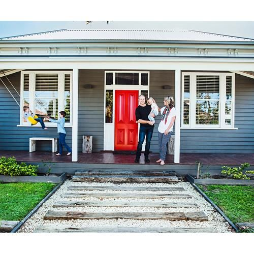 """Painting a front door is a small-scale opportunity to try a big-scale """"on trend""""…"""