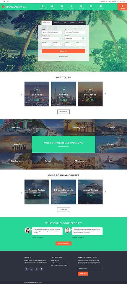 $75 - Travel Responsive Website Template BUY : http://www.themecrea.com/website-templates-type/58204.html