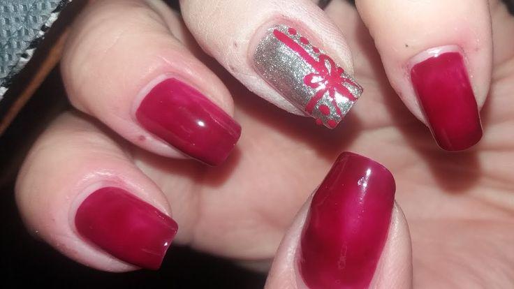 Christmas Gift Nails (Nailed It) | Easy Winter Nails Tutorial