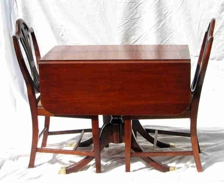 Duncan Phyfe Drop Leaf Table And Chairs Colonial