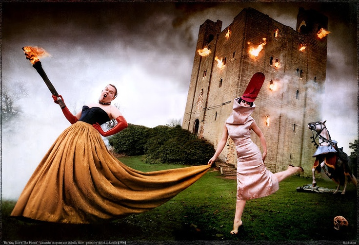 Burning Down by surrealist photographer David LaChapelle was originally published in Vanity Fair in 1997.A portrait of the late fashion designer Alexander McQueen and magazine editor Isabella Blow has been acquired by the National Portrait Gallery (NPG).