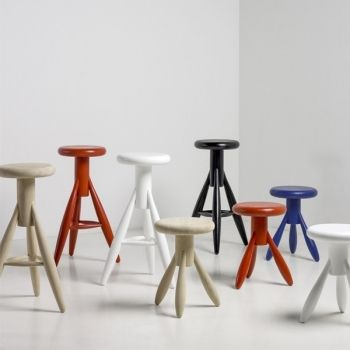Rocket stools by Eero Aarnio for Artek.