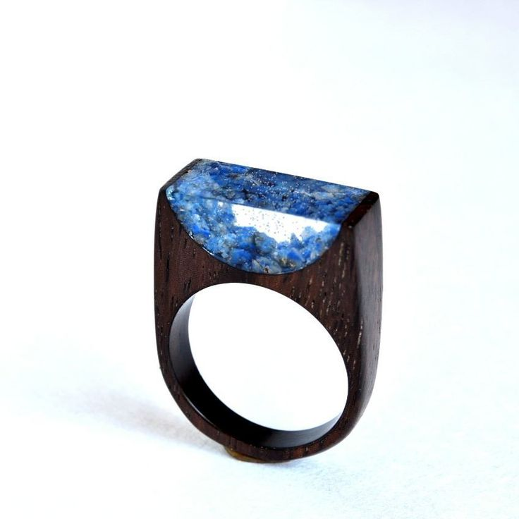 Rose wood lapis lazuli lapis lazuli lapis lazuli Wooden ring jewelry lapis lazuli rose wood