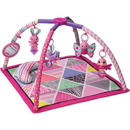 Infantino Lil' Gems Twist and Fold Activity Gym and Play Mat - Walmart.com