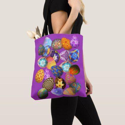 Fancy Easter Eggs on Purple Tote Bag  $23.70  by KatsTreasures  - custom gift idea