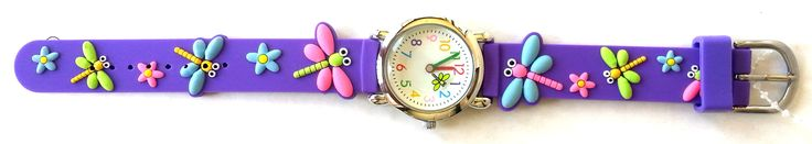 The Kids Watch Company Dragonflies Watch One Size Purple Band