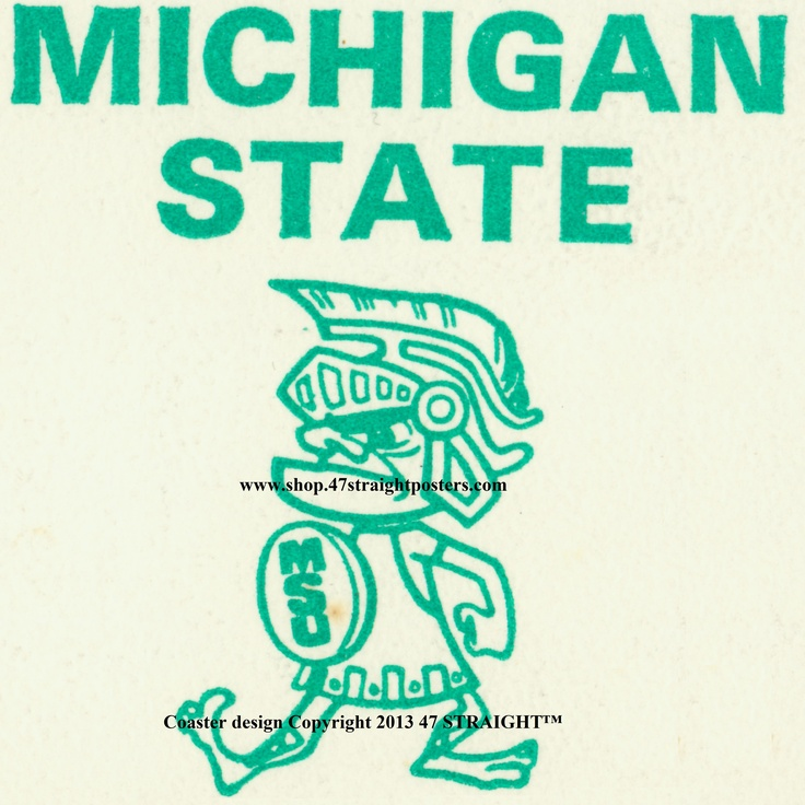 Available soon from 47 STRAIGHT.™ 1968 Michigan State Football Ticket Coasters™ made from an authentic '68 Michigan State football ticket. Best Father's Day gifts under $40. Unique Father's Day gifts made from over 2,000 historic vintage sports tickets. #fathersday2013 #fathersdaygifts #gifts